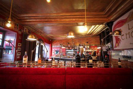 La Chope - restaurant décor cinéma sièges velours Rennes
