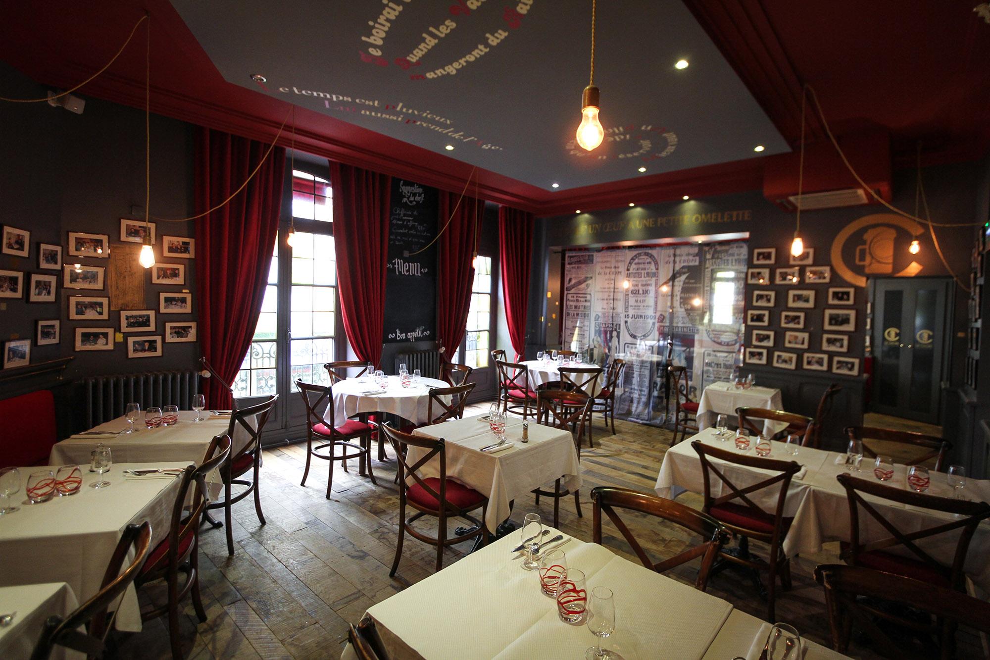 decor vintage brasserie Rennes